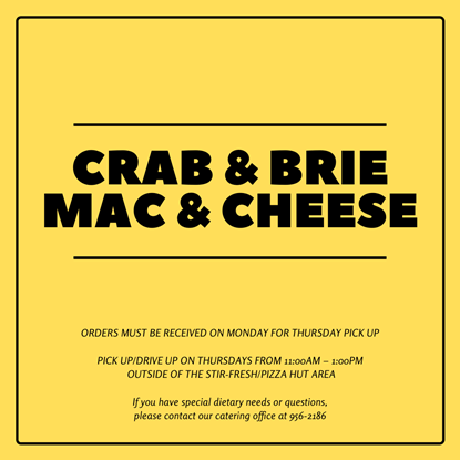 Bake & Serve - Mac & Cheese with Crab & Brie (Serves 5 - 8 people)